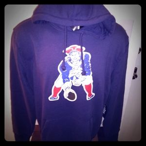 New England Patriots Retro Vintage Hoodie New